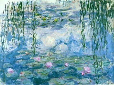 Oil Painting 'Water Lilies, 1916-1919 By Claude Monet', 16 x 21 inch / 41 x 54 cm , on High Definition HD canvas prints is for Gifts And Bath Room, Garage And Kids Room Decoration, images