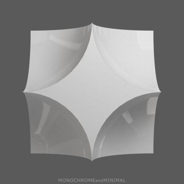Symmetrical 005 #3d #abstrakt #construction #design #digital #kunst #minimal #minimalism #white #art #sculpture #medienkunst #symmetrical #3dminimal #cgi #forms #inspiration #loop #Konstruktivismus #constructivism #mediaart #konstruktive #kunst #constructed #works #concrete #animated #monochrome #mirror #rotation