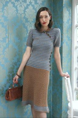 Tea Garden Dress - A Stitch in Time: Vintage Knitting & Crochet Patterns, 1920-1949.