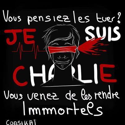 Merci à Darky Angelini pour son illustration ! #jesuischarlie #charliehebdo