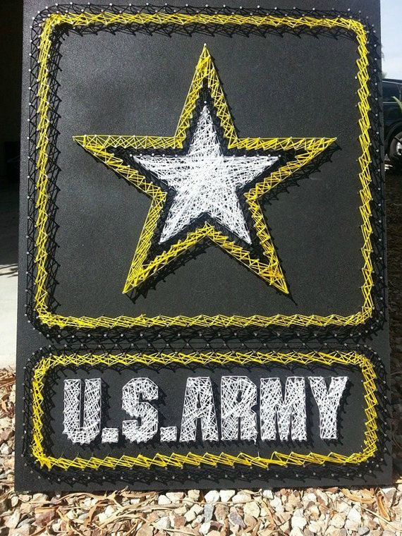 Army Strong String art for man Cave   24 X 18 by ThejewelryCage