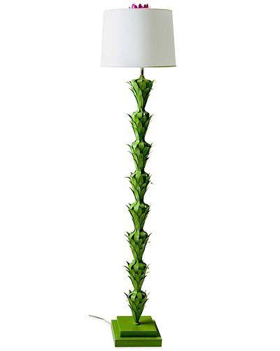 Cool artichoke-like green floor lamp