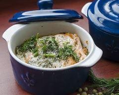 Mini cocottes de saumon au poireau