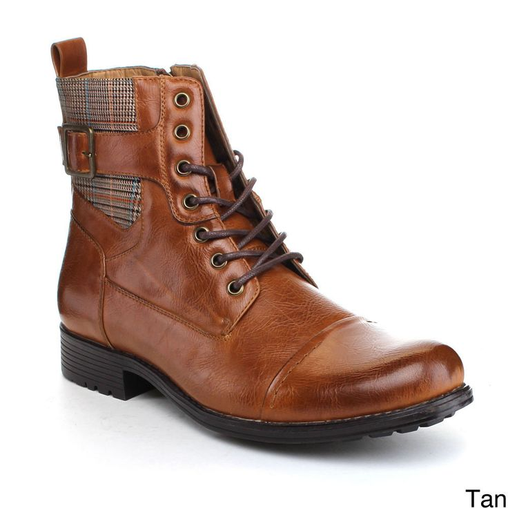 Arider 'Bull-3' Men'sLace-up Side Zipper Ankle Boots - Overstock™ Shopping - Great Deals on Arider Boots