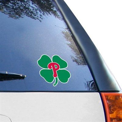 WinCraft Philadelphia Phillies 8'' x 8'' Shamrock Color Decal - Red/Green