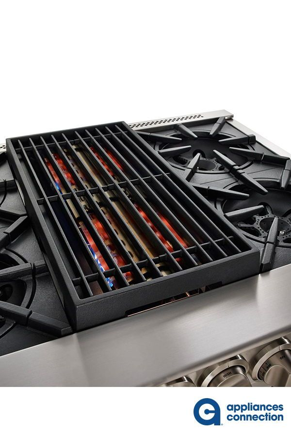 Platinum Series 48 Inch Natural Gas Rangetop With Griddle 8 Open Burners In Stainless Steel Bluestar Rangetop Range Top Top Appliances Gas Range