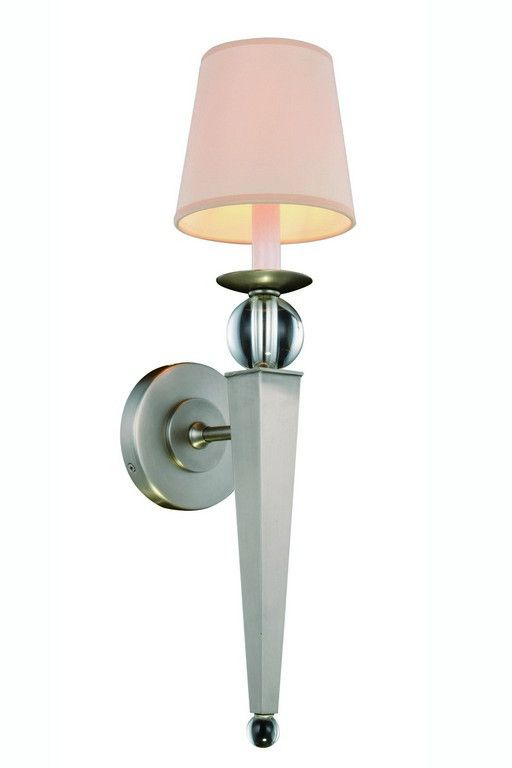 "Olympia Collection Wall Sconce W:6"" H:21"" E:7"" Lt:1 Vintage Nickel Finish Royal Cut Clear. Olympia Collection Wall Sconce W:6"" H:21"" E:7"" Lt:1 Vintage Nickel Finish Royal Cut Clear  Watts: Lumens: Lamp Type: Shape: Style:Transitional Light Bulbs:1 Bulb Type:E12 Bulb Wattage:40 Max Wattage:40 Voltage:110V-125V Finish:Vintage Nickel Crystal Trim:Royal Cut Crystal Color:Clear Hanging Weight:2"