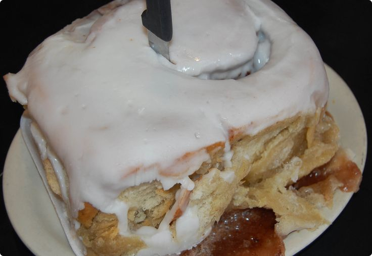 3 POUND cinnamon roll at Lulu's Bakery & Cafe in San Antonio, TX.  You can even mail order them today.