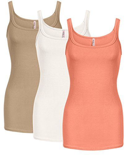 e682788d9761c OFTEN Cami Tank Tops for Women Reg and Plus Size Womens Camisoles Workout  Top - Made in USA