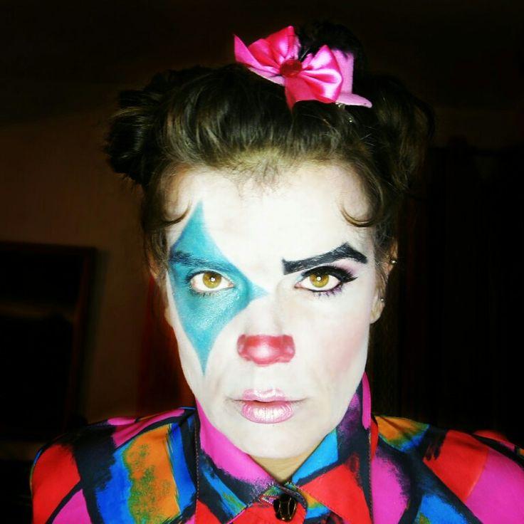 Cute Clown Halloween makeup. Circus inspired