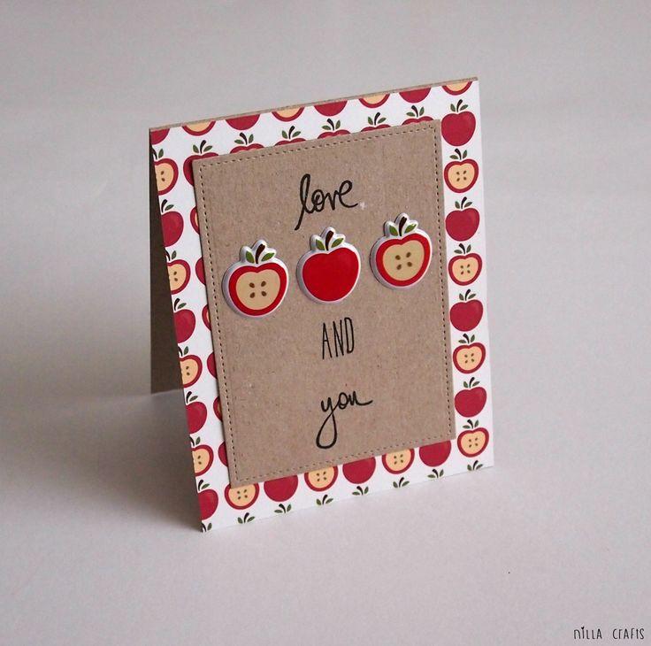 I love apples and you (September Simple Kit) #pebblesinc #pebblesharvest #harvest #fall #autumn #madewithPebbles