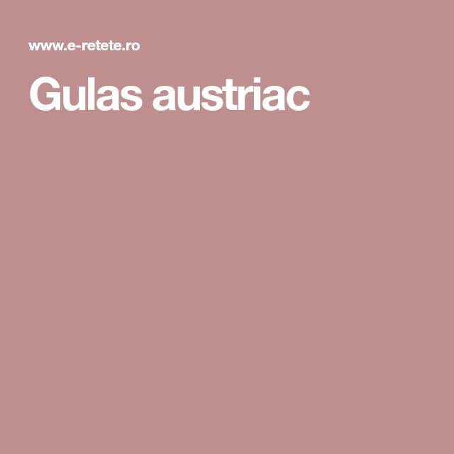 Gulas austriac