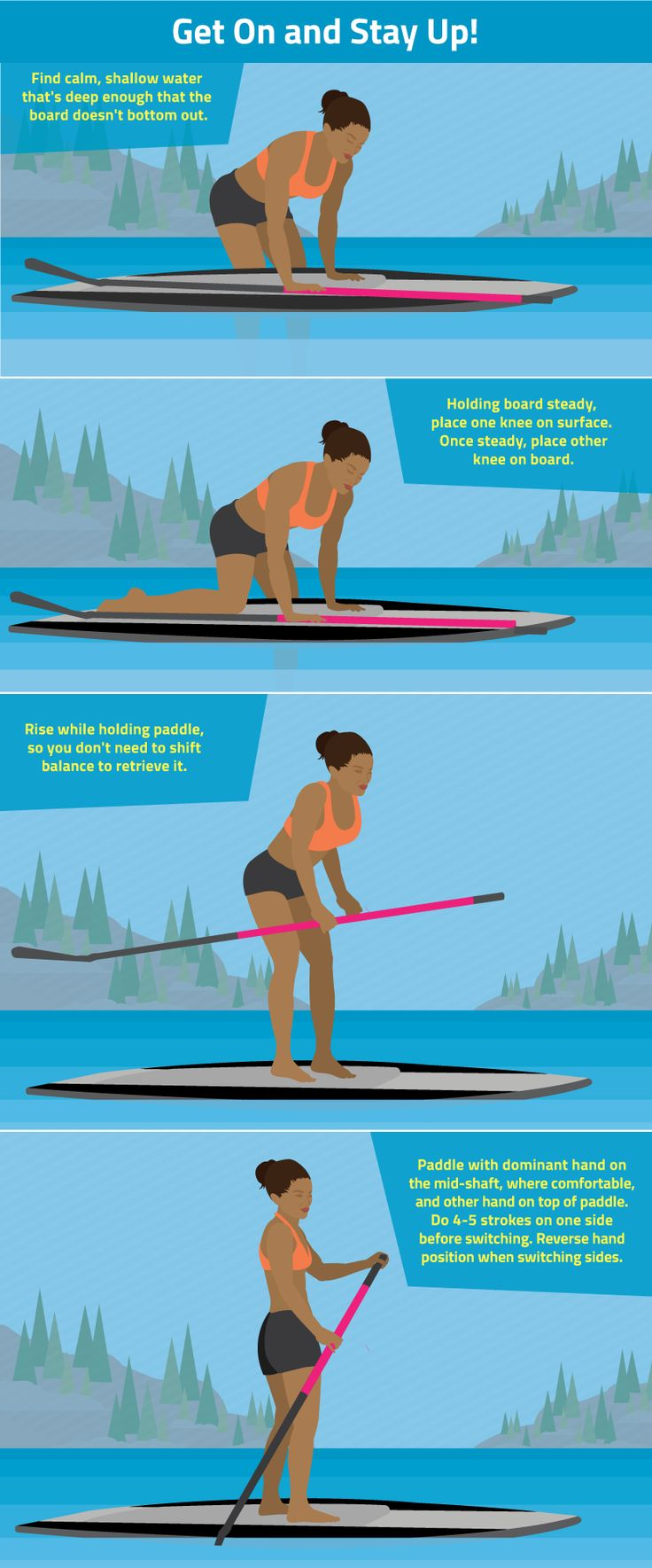 Outdoor travel tips: How to Get on a Stand-up Paddle board