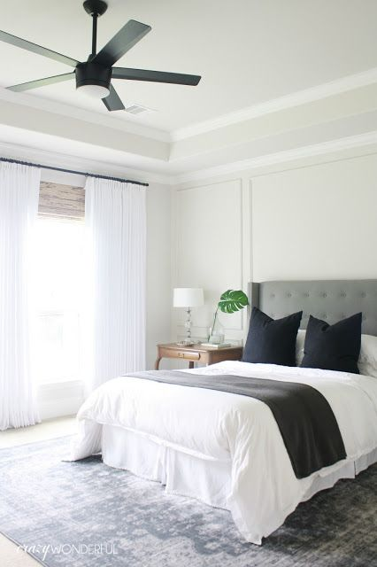 Crazy Wonderful: bedroom ceiling fan, Home Decorator's Collection Merwry fan, matte black
