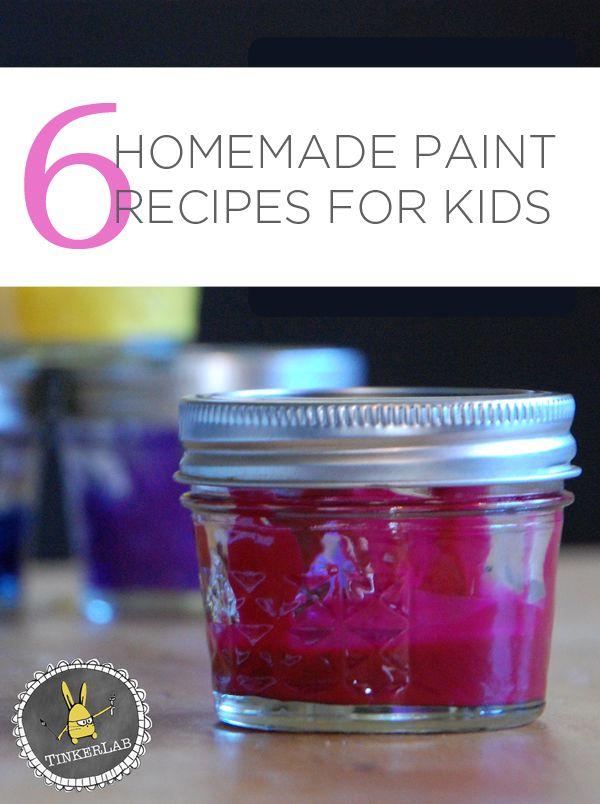 6 Favorite Homemade Paint Recipes For Kids | TinekerLab.com