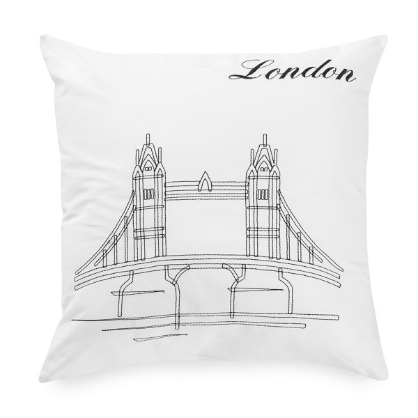 Passport 18' Square Postcard Toss Pillow - London - Bed Bath & Beyond