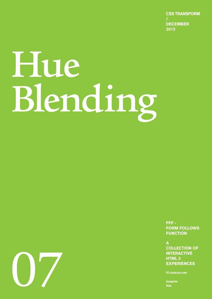 Form Follows Function - Hue Blending