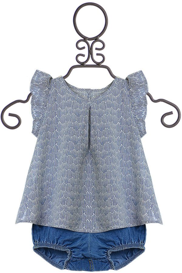 Sticky Fudge Baby Blouse and Bloomers (Size 0-3Mos)