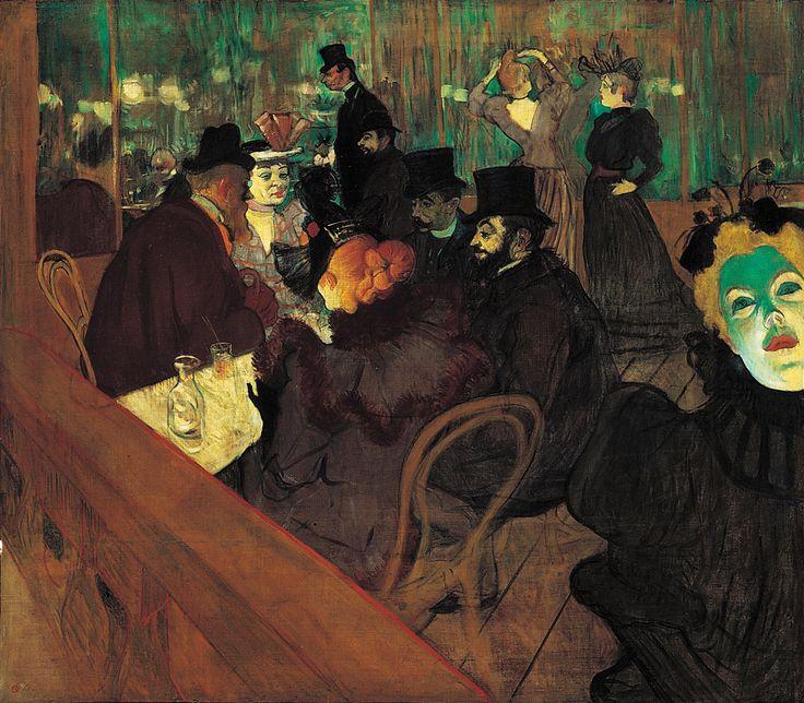 At the Moulin Rouge, Henri de Toulouse-Lautrec, 1892