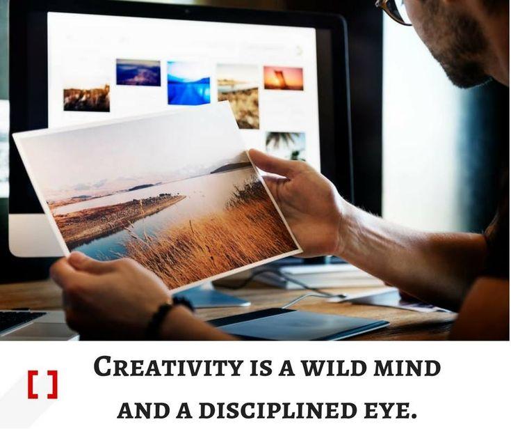 (1) Creativity is a wild mind and a disciplined eye. http://www.3rdbracket.com  #creativity #creative #freelancer #logodesigns #logo #logodesigner
