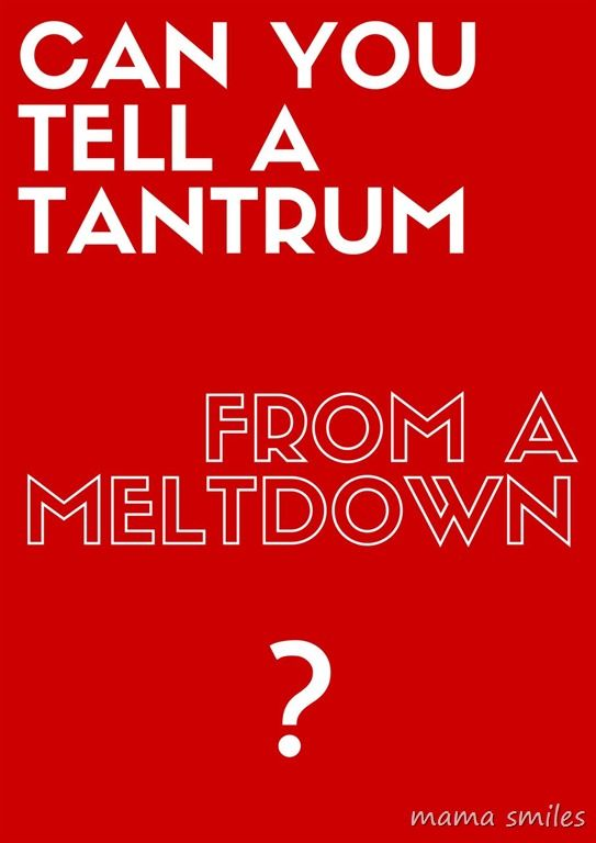 Can you tell a tantrum from a meltdown? #toddlers #parenting #parentingtips