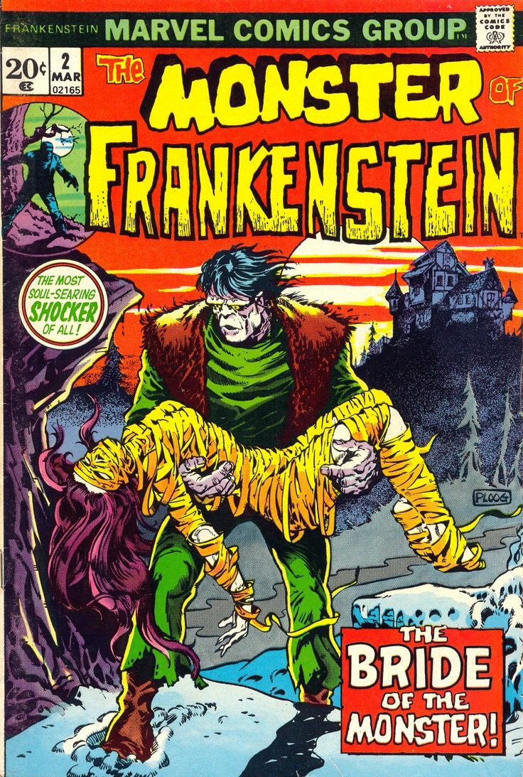 The Monster Of Frankenstein n°2, March 1973, cover by Mike Ploog