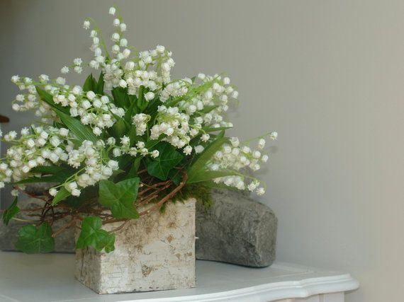 Birch Bark Wood Vases Square Flowers Pot Rustic Lily By