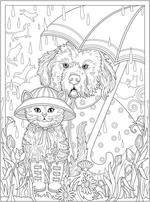Dressed Pets Free Coloring Pages In 2021 Detailed Coloring Pages, Dog Coloring  Book, Coloring Pages