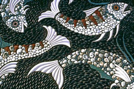 Maggy Howarth - Cobblestone Designs - more fish, more ideas for our gazebo pathway design to the pond!