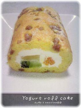「ヨーグルトクリームロールケーキ」auko | お菓子・パンのレシピや作り方【corecle*コレクル】