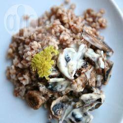 Foto della ricetta: Grano saraceno con crema di funghi