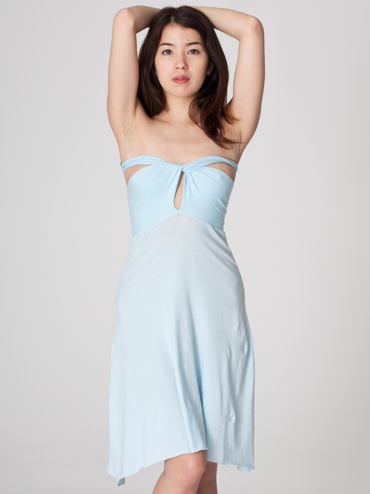 American Apparel - Cotton Spandex Jersey Bandeau Dress