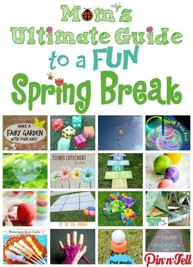Spring Break Activities for Kids - over 35 AMAZING and FUN Ideas that are sure to keep the kiddos occupied.  The last one is my favorite!