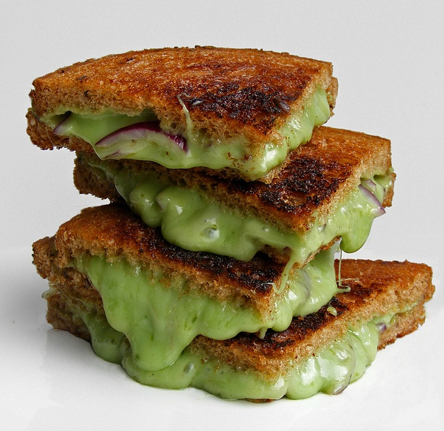 Grilled cheese sandwich with Wasabi Gouda.: National Grilled, Food, Grilled Cheese Sandwiches, Wasabi Gouda, Grilled Wasabi, Grilled Cheeses, Grilled Chee Sandwiches, Wasabi Cheese, Onions Grilled