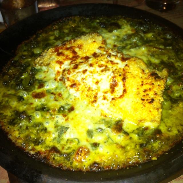 Melhor peixe que ja comi!!  Prato: Nuestro Congrio de Siempre  Restaurante: Como Água para Chocolate - Santiago do Chile