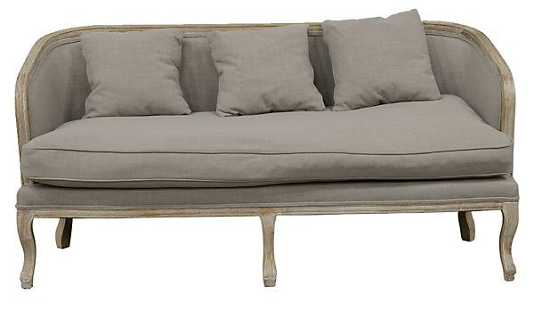 "One Kings Lane - Eclectic Elegance - Maria 69"" Curved Settee, Natural"