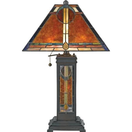 "Quoizel NX615TVA Valiant Bronze New Mexico 2 Light 24"" Tall Table Lamp with Mica And Tiffany Shade"