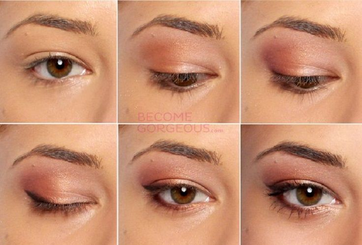 Top 10 Morning in-a-Rush Makeup Tutorials: Peach eye makeup
