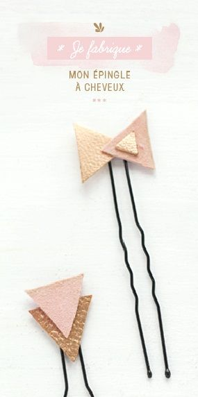 leather barrettes! so cool!