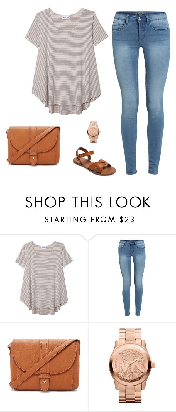 """""""style"""" by craycray-975 on Polyvore featuring Olive + Oak, Forever 21, Michael Kors and Merona"""
