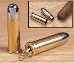 44 Magnum Bullet Cigar Punch Cutter With Key Ring - I smoke cigars once in a while. This is low on the list but its still cool.