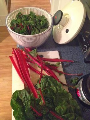 The BEST swiss chard recipe ever! Try it. :)