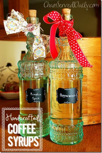 Homemade coffee syrups! Cool gift for coffee lover friends!