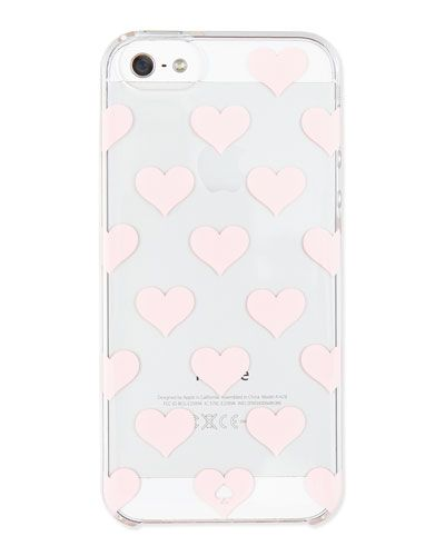 clear hearts kate spade phone case