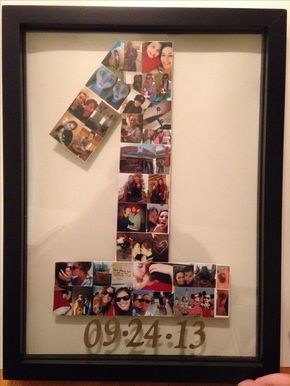 My first Pinterest project. My wonderful mom helped me. Anniversary gift for my one year with my girlfriend.