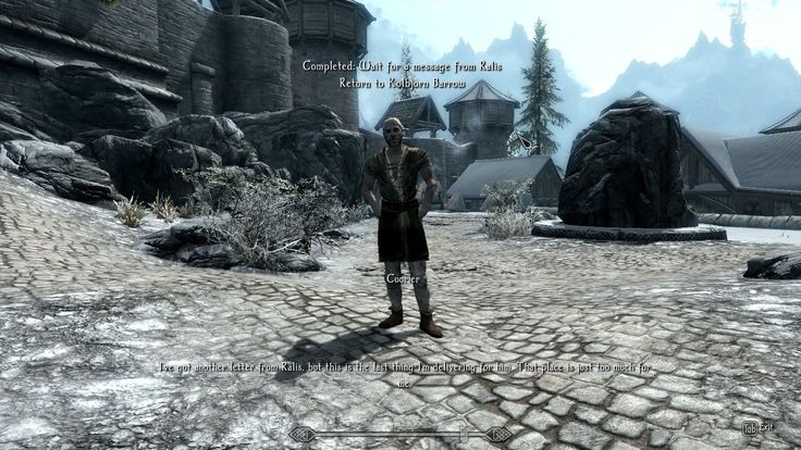 Received a message from Ralis Sedarys... while in Bruma. I now Pity the poor courier. #games #Skyrim #elderscrolls #BE3 #gaming #videogames #Concours #NGC