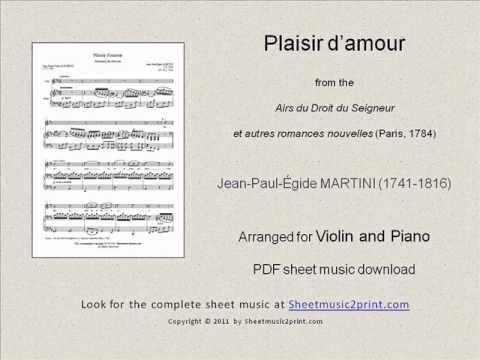 Plaisir d'amour - Violin www.sheetmusic2print.com/Martini-JPE/Violin/Plaisir-Amour.aspx