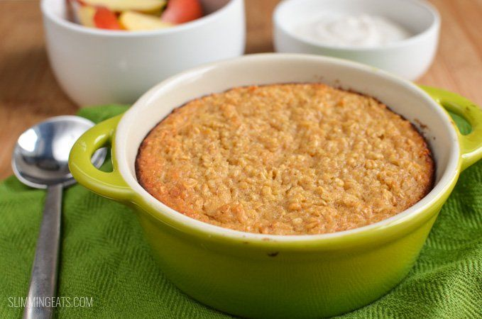 Slimming Eats Apple Cinnamon Baked Oatmeal - gluten free, vegetarian, Slimming World and Weight Watchers friendly
