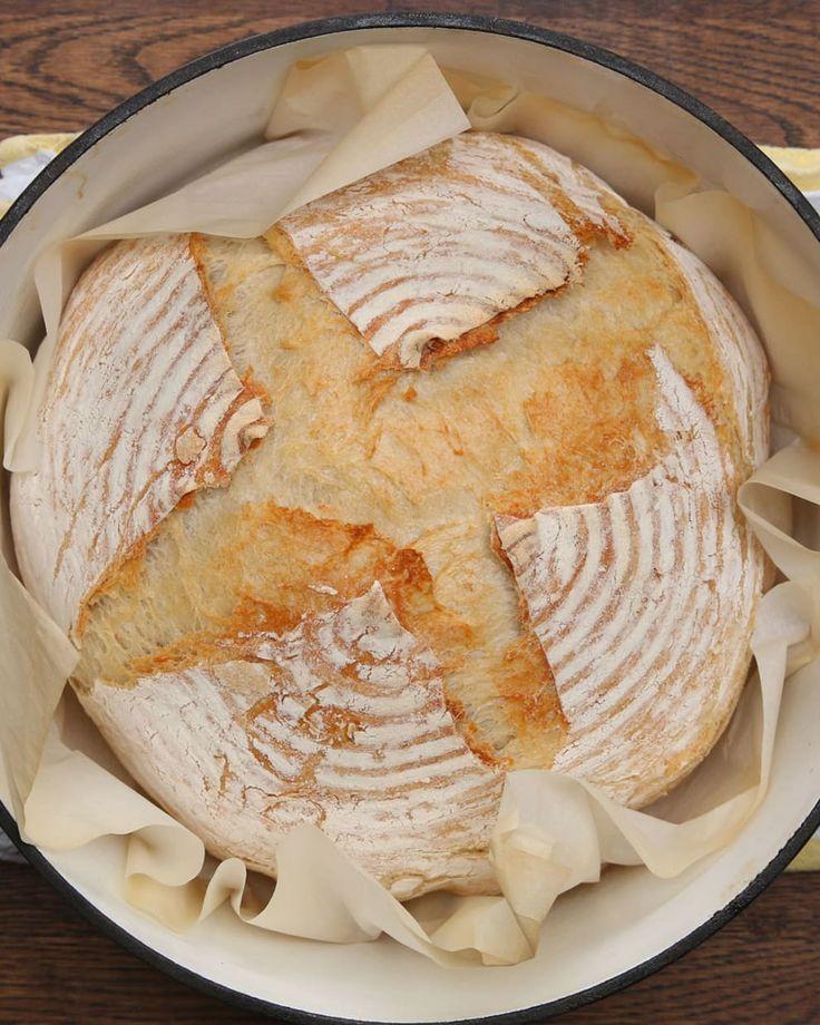 Wenn du dieses hausgemachte Sauerteigbrot machst, wirst du nie wieder im Laden gekauftes Brot wollen