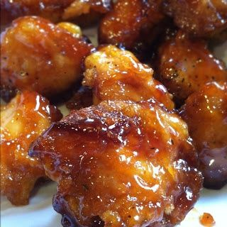 Sweet and Sour chicken -it really can't get any easier than this  Chicken Breading: 3-5 chicken breast salt and pepper 1 cup cornstarch 2 eggs, beaten 1/